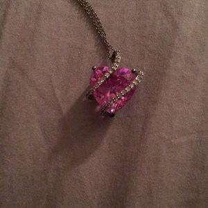 Lab created Pink Sapphire pendant